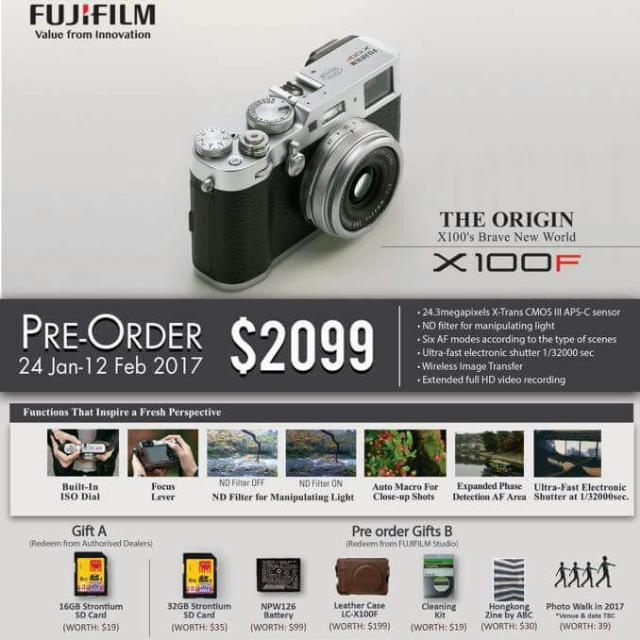 Fujifilm X100F (Preorder), Photography on Carousell