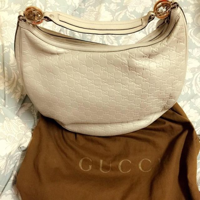 Gucci Bag Guccima Beige Large