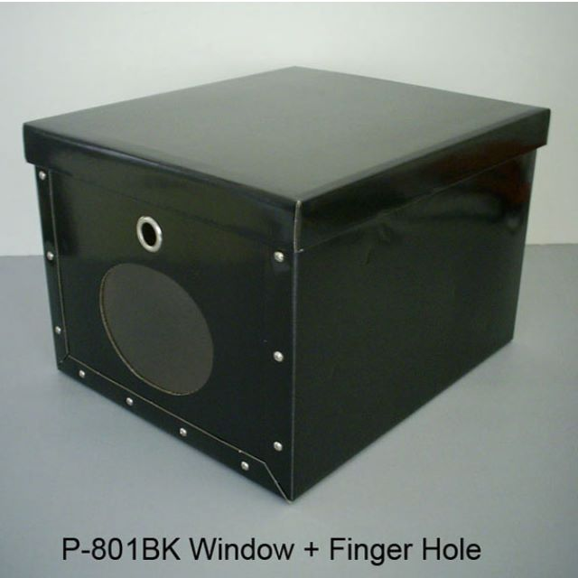 Hard corrugate recycled black color paper storage box