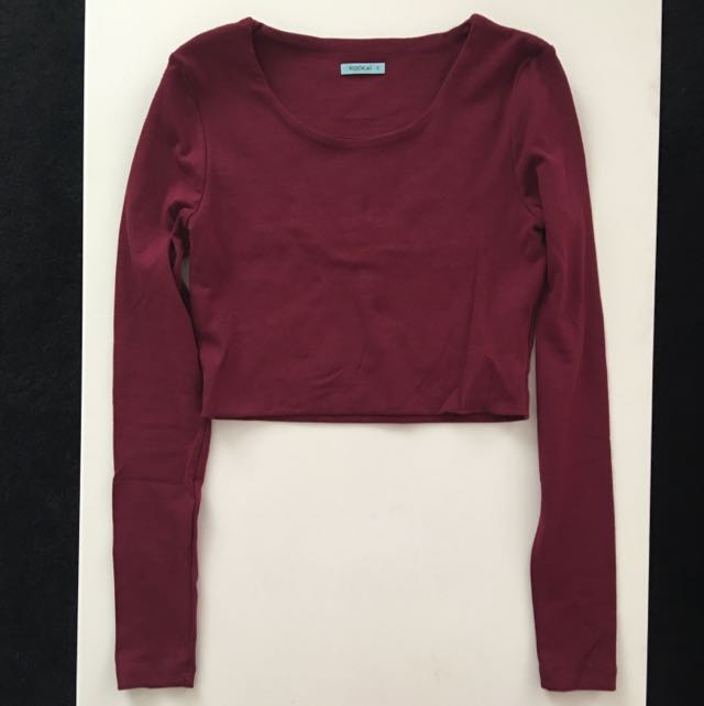 Kookai Long Sleeve Crop