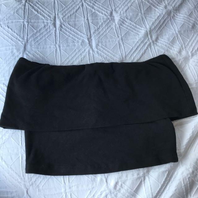 Kookai Off Shoulder Crop Top