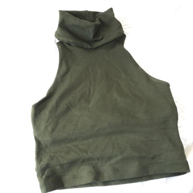 Kookai Turtle Neck Crop Top