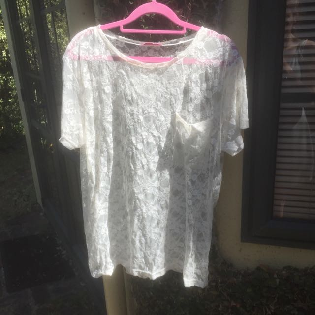 Lace Top With Pocket