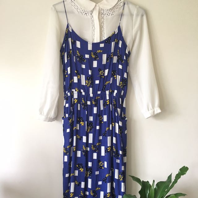 Leonard Street Floral Slip Dress Sz 10