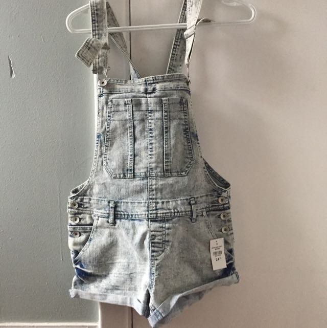 Light Washed Overalls
