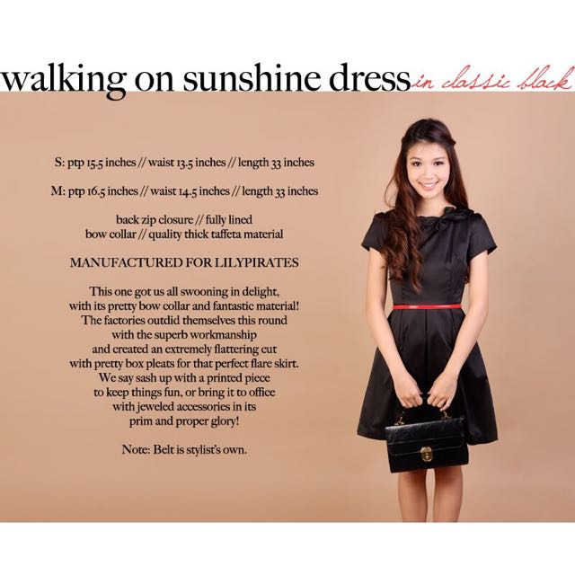 Lilypirates Walking On Sunshine Dress in Classic Black [M]