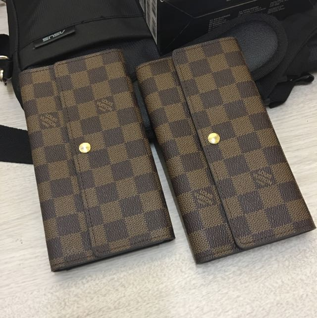 Lv棋盤格皮夾 發財包