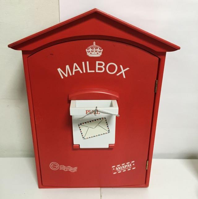 Mailbox Inspired Storage Mini Cabinet