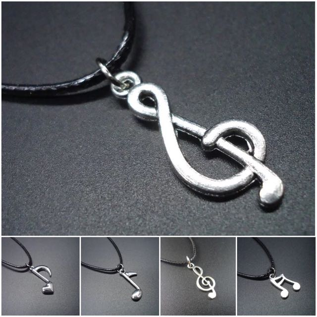 Music Note Small Pendant Necklace / Kalung Musik Liontin Kecil