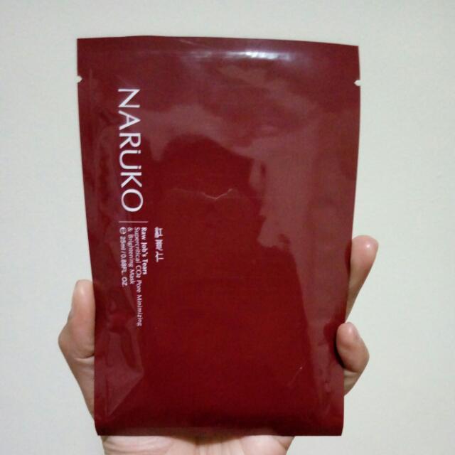 Naruko Raw job's Tears // Supercritical CO2 Pore Minimizing & Brightening Mask