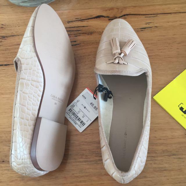 Never Worn Zara Ballet Flats Size 38