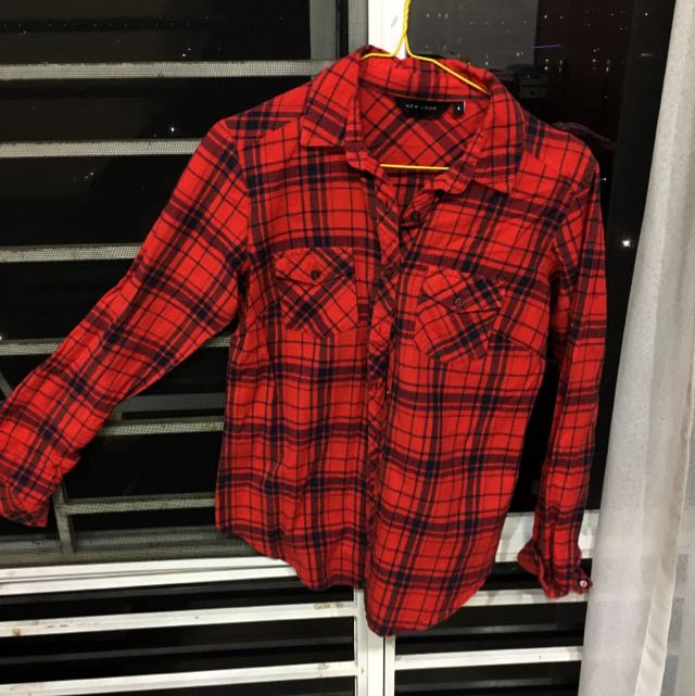 New Look Red Check Flannel