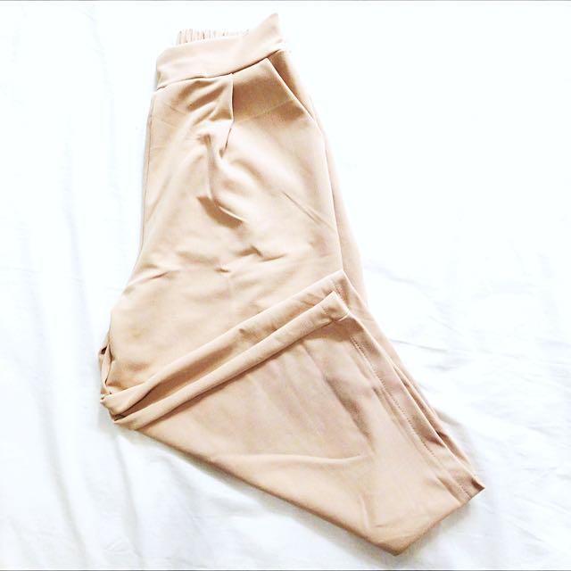 Nude Beige Culottes
