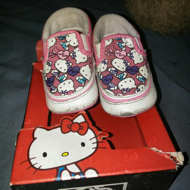 Orig Kitty Vans For Baby
