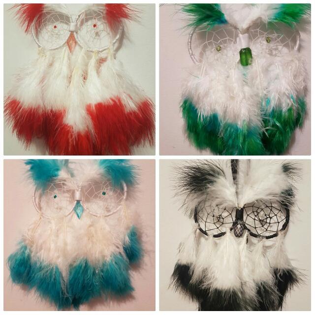 Owl Dreamcatcher Hand-Made