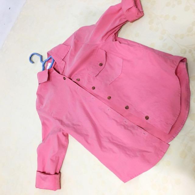 Pink/ Coral Silk Flannel