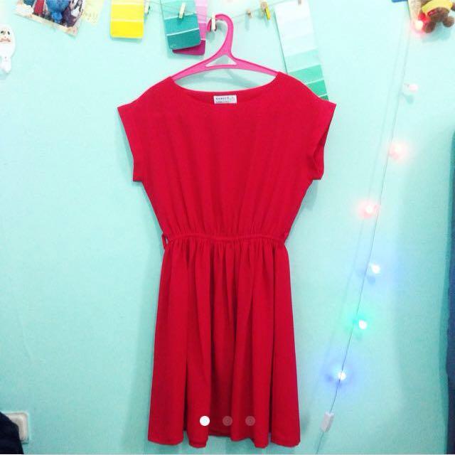 repriced! red mini dress