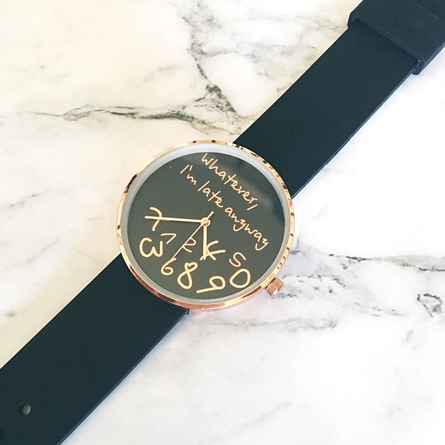 Rose Gold And Black Tumble Watch