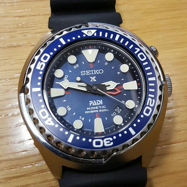 Seiko Padi Kinetic Gmt Diver Sun065 Luxury Watches On Carousell