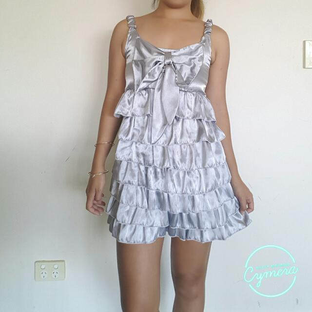 Silver Dress. Size Small