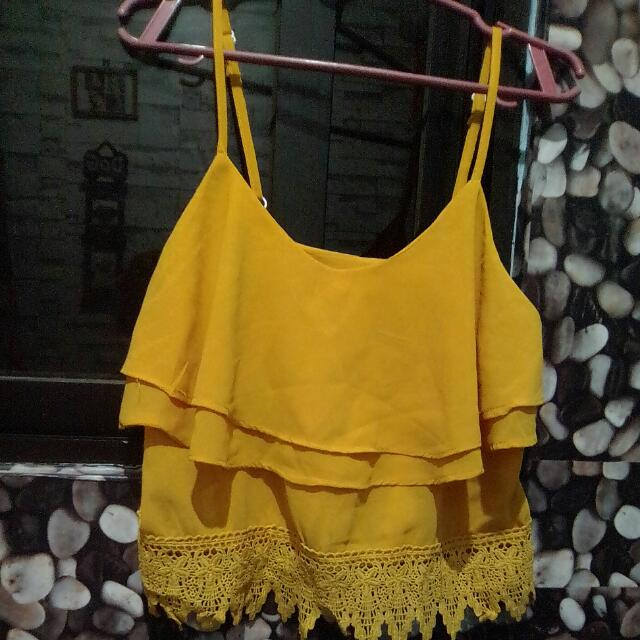Spaghetti Blouse With Lace