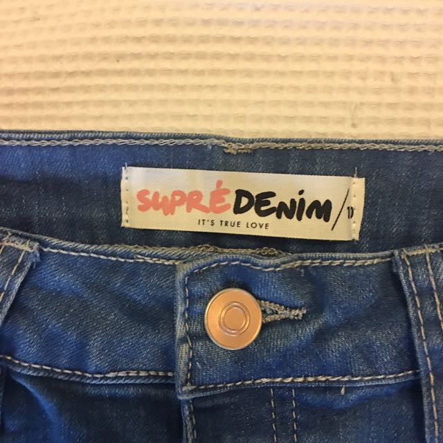 SUPRÈ Denim Skirt Size 10