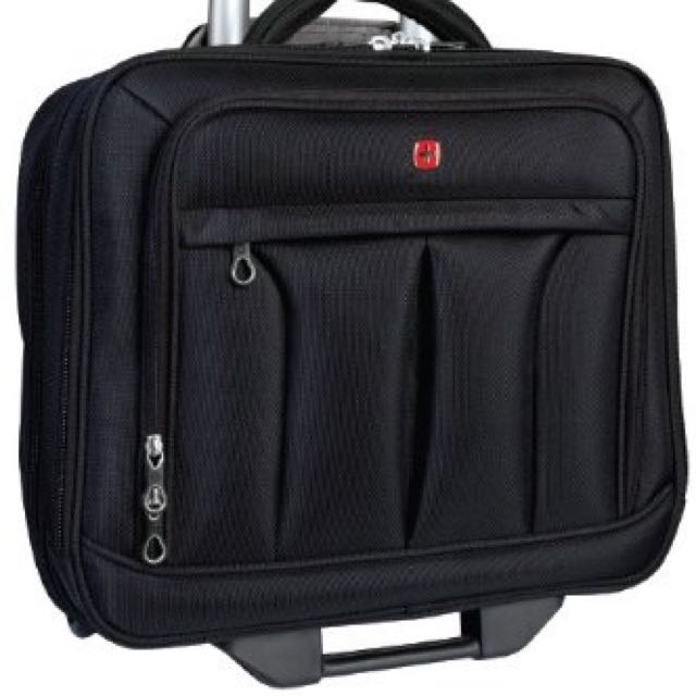 "Swiss Gear 15.6"" Polytex Mobile Office Wheeled Case, Black - $90"