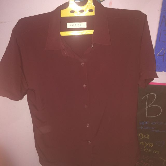 the silky rolled up blouse ROEPI