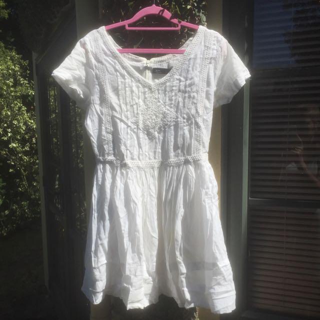 White Glassons Dress