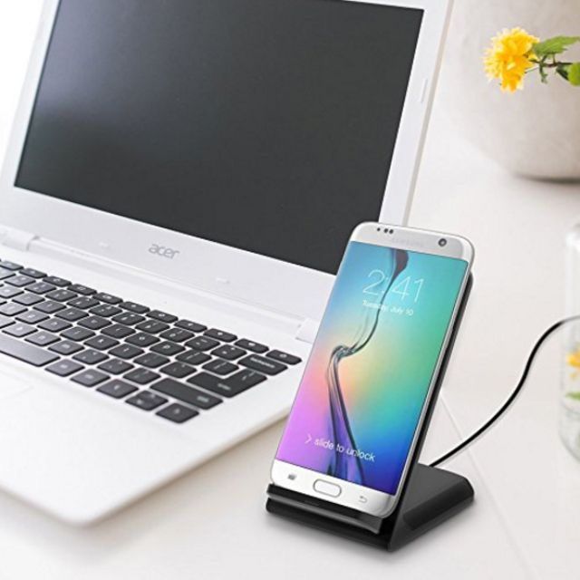 Wireless Charger Stand for QI-Enabled Devices (Galaxy S6, S6 Edge, S7 Edge, S7)