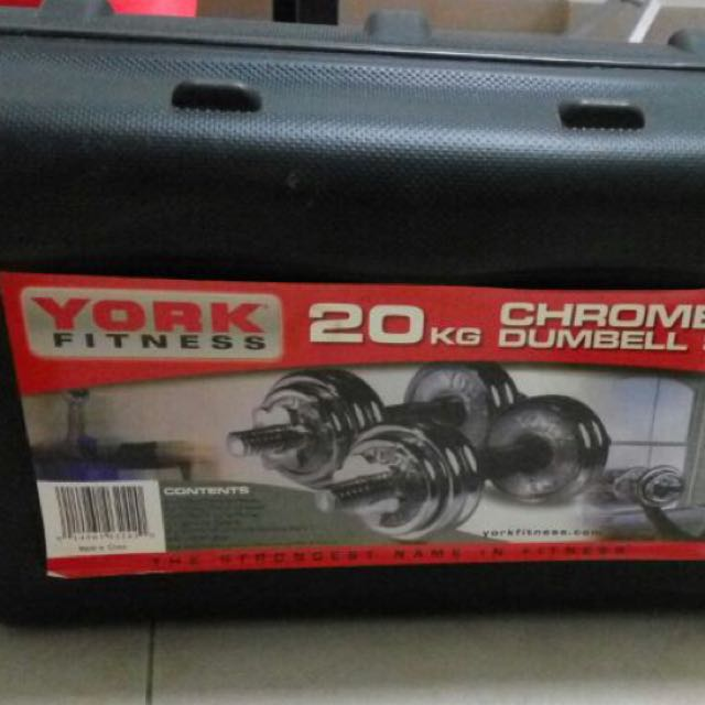 York 20kg Chrome Dumbells