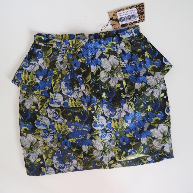 ZALORA Flower Peplum Skirt
