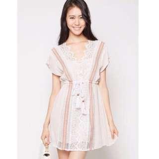 MDS Gabriella Dress In Blush Size L
