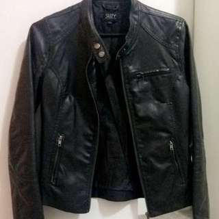 Suzy Shier Faux Leather Jacket