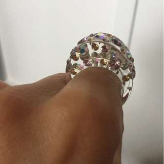Pinl Jewelled Ring