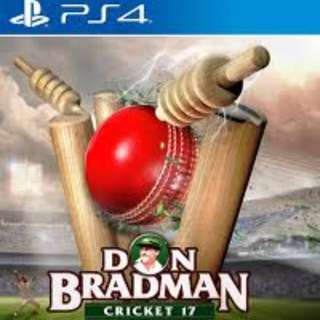 Don Bradman Cricket 2017 Ps4