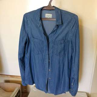Cotton On Denim Look Long Sleeve Top