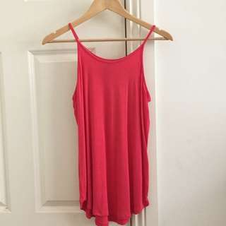 COTTON ON Red High Neck Singlet, Size Small