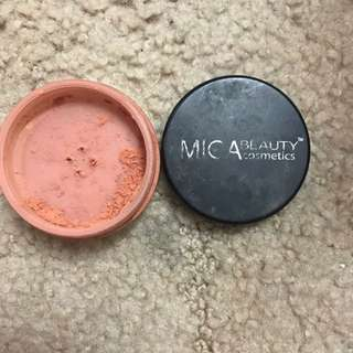 Mica Beauty Cosmetics Mineral Blush Shade 'terra Cotta'