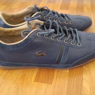 Repriced!!! LACOSTE Blue Leather Lowrise Sneakers