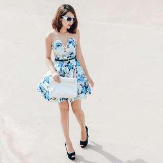 Fashmob Kensington Dress In White Xs