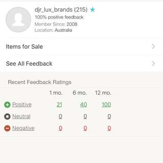 Check Out My Listings All Authentic No Fakes , This Is My Ebay Feedback 100% Positive