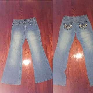 Light Blue Bell Bottom Jeans
