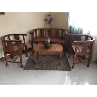 Molave Wood Sala Set