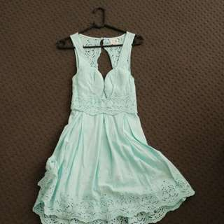 West End Doll Lace Back Dress