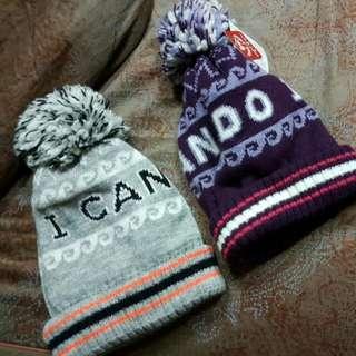 全新毛帽,一頂200,兩頂350