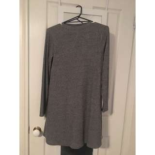 Grey Long sleeve Dress