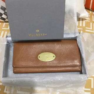 Authentic mulberry long wallet