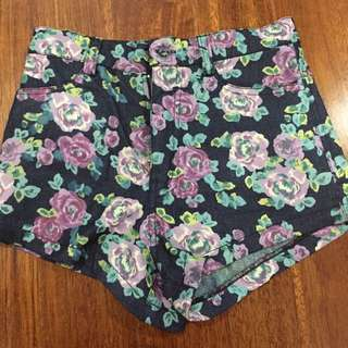 poise short pants flower ( extra small ) bahan jeans