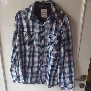 Blue Flannel Long Sleeves Shirt